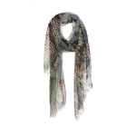 AO5014 Python & Chain Faded Light-weight Scarf, Green