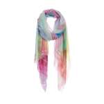 AO5015 Rainbow Color Brush Stroke Scarf, Mustard