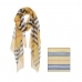 AO5024 Plaid Pattern Lightweight Scarf, Mustard