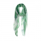 AO5025 Color Faded Stripes Pattern Scarf, Green