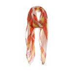 AO5025 Color Faded Stripes Pattern Scarf, Mustard