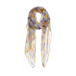 AO5026 Multi Color Polka-dot Pattern Scarf, Mustard