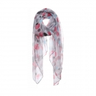 AO5026 Multi Color Polka-dot Pattern Scarf, Pink
