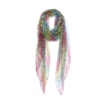 AO5028 Rainbow Color Leopard Pattern Scarf