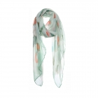 AO5030 Little Hearts Pattern Scarf, Green