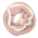 AO5052 Soft Feel Two-tone Solid Color Infinity Scarf, Mouve