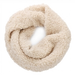 AO5060 Teddy Bear Feel Solid Color Infinity Scarf, Beige