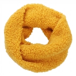 AO5060 Teddy Bear Feel Solid Color Infinity Scarf, Mustard