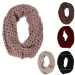 AO554 KNIT INFINITY SCARF W/ SEQUINS