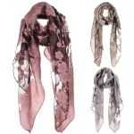 AO568 Floral Mesh Scarf