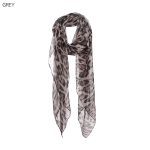 AO585 Leopard Pattern Light-weight Scarf, Grey