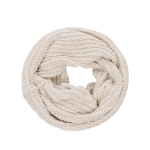 AO596 Solid Color Soft Textured Infinity Scarf, Beige