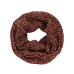 AO596 Solid Color Soft Textured Infinity Scarf, Brick