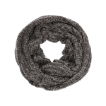 AO596 Solid Color Soft Textured Infinity Scarf,Grey