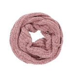 AO596 Solid Color Soft Textured Infinity Scarf, Pink