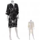 AO6008 Crochet Laced Kimono W/ Sleeves