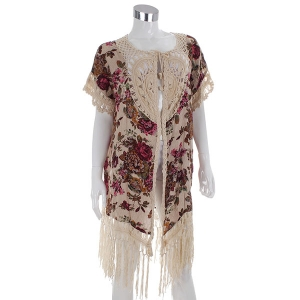 AO6015 Crochet Accent Cover Up