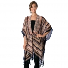AO6019 Patterned Cover Up Cape