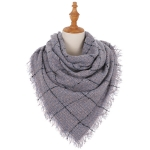 AO6057 Check Pattern Woven Square Scarf