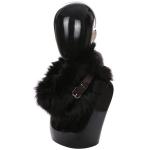 AO6067 Faux Fur Neck Warmer W/ Buckle, Black