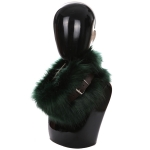 AO6067 Faux Fur Neck Warmer W/ Buckle, Green