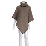 AO6083 Pearl Accent Poncho, Beige