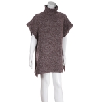 AO6093 Turtle Neck Poncho, Burgundy