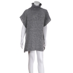 AO6093 Turtle Neck Poncho, Grey