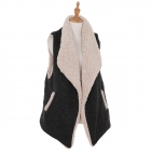 AO6118 Solid Color Lined Vest, Black