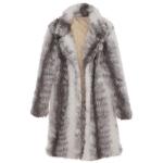 AO6142 Ombre Color Faux Fur Coat, Beige