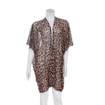 AO6177 Leopard Pattern Summer Sheer Poncho