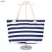 AO703 Stripe Beach Bag