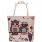 AO730 Owl Canvas Tote Bag