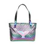AO8003 Solid Glow Mermaid Tail Pattern Tote Bag, Green