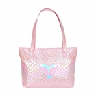 AO8003 Solid Glow Mermaid Tail Pattern Tote Bag, Pink