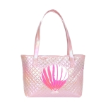 AO8004 Solid Glow Big Shell Pattern Tote Bag, Pink