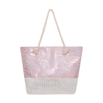AO8006 Leopard Glitter Pattern Tote Bag, Pink