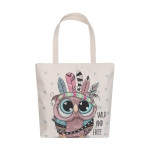 AO8024 Cute Owl Pattern Canvas Tote Bag