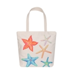 AO8026 Starfish Pattern Canvas Tote Bag