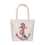 AO8029 Anchor Pattern Canvas Tote Bag