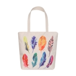 AO8032 Multi Color Feather Pattern Canvas Bag