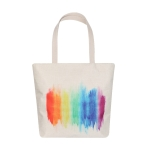 AO8041 Rainbow Color Brushed Pattern Canvas Bag