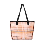AO8046 Plaid & Rainbow Color Transparent Tote Bag