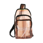 AO8047 Plaid & Rainbow Color Transparent Sling Bag