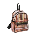 AO8048 Plaid & Rainbow Color Transparent Backpack