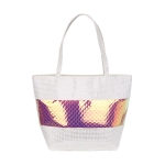 AO857 Iridescent Fish Scale Pattern Tote Bag, Gold