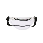 AO869 Transparent Neon Color Fanny Pack, White