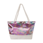 AO883 Multi Color w/Fish Scale Pattern Summer Tote Bag