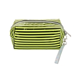 AO891 Neon Color & Stripes Pattern Cosmetic/Travel Pouch, Mustard