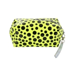 AO892 Neon Color & Polka-dot Pattern Cosmetic/Travel Bag, Mustard